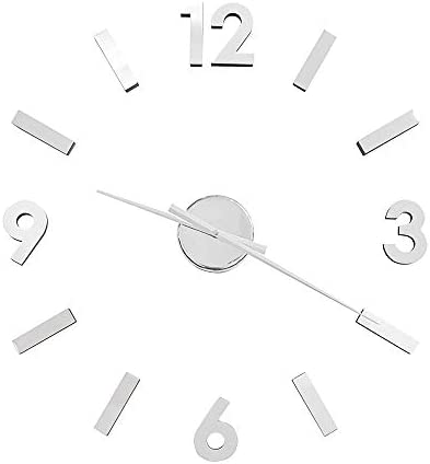 Torre Tagus Versa DIY Adhesive Wall Clock for Home Office School Decorations, Large, Silver