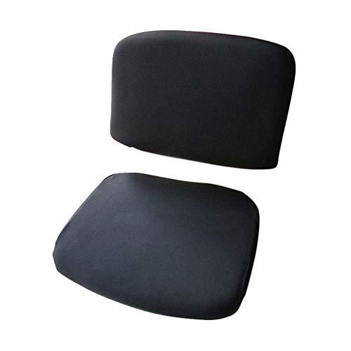 B Blesiya 1 Juego de Forro de Cubierta de Asiento Extensible para Silla de Oficina Cubierta Fundas - Negro