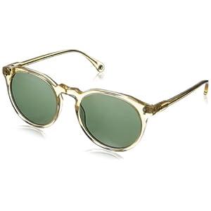 Raen Remmy Polarized Round Sunglasses,Champagne Crystal,52 mm