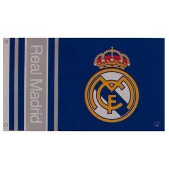 (Real Madrid Crest Flag - Authentic Primera Liga Merchandise)