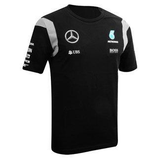 MERCEDES AMG PETRONAS Herren Team Tee 2016 Black T-Shirt, Schwarz, XL