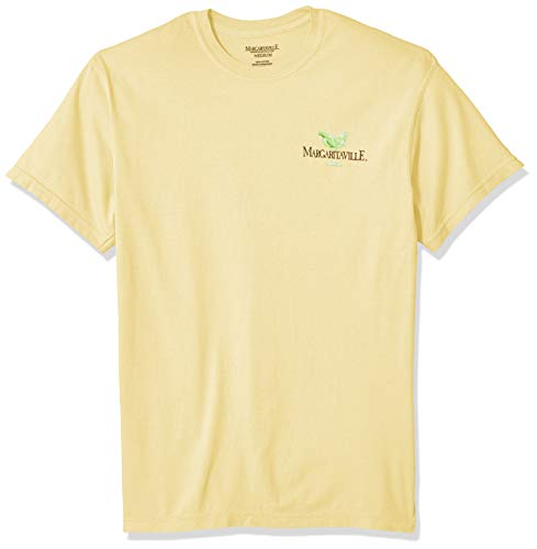 Margaritaville Men's Livin for The Weekend Graphic Short Sleeve T-Shirt, Butter, 3X-Large ()