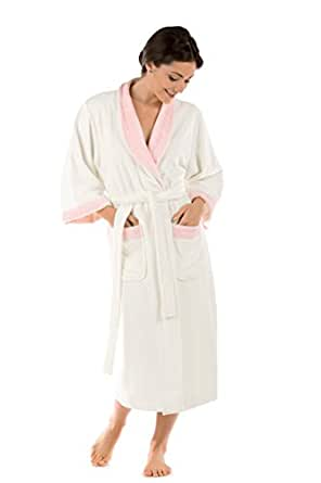 Women's Terry Cloth Bath Robe - Luxury Comfy Robes by Texere (Sitkimono, Natural White, Small/Medium) Best Gifts for Mom Sister Girlfriend WB0102-NWH-SM