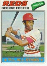 1977 Topps Baseball Card #347 George Foster Near Mint/Mint