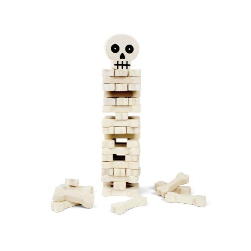 STACK the BONES skeleton skull & crossbones STACKING by Kikkerland (Image #2)