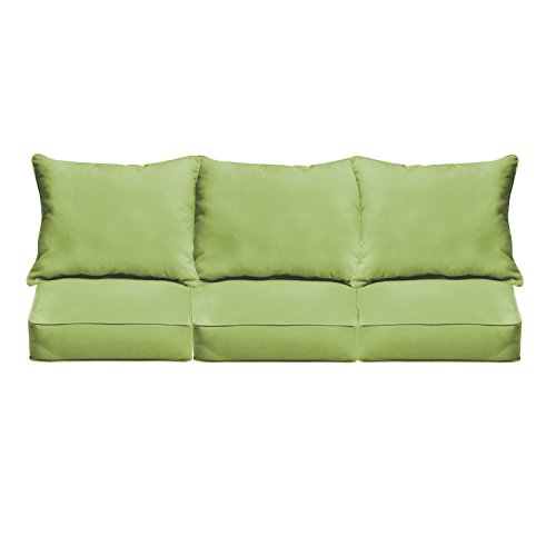 Mozaic AZPCSET4363 Swavelle Corded Outdoor Sofa Set, 23″ x 25″ x 5″, Apple Green