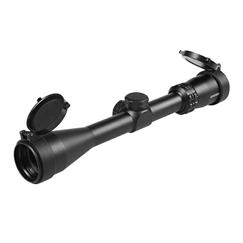 Edenberg 3-9x40mm Super-Target Reticle 1-inch Tube Rifle Scope for Hunting and Tactical Shooting 100% Waterproof Fogproof Shockproof Construction with Flip Up Cap