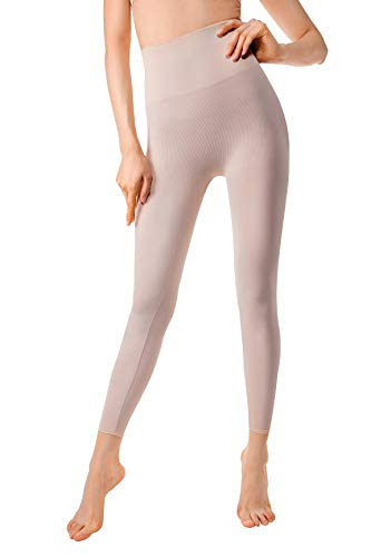(MD Compression Shapewear For Women Yoga Pant And Leggings Hips And Thighs Body Shaper Small Light Nude)