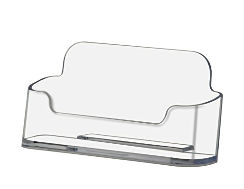 93e27191cf57 Deflecto Business Card Holder, Single Compartment, 3-3/4W x 1-7/8H x  1-1/2D, Clear (70101)