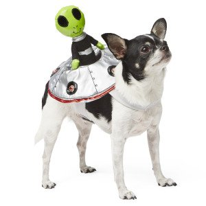 Top Paw Alien Rider Halloween Dog Costume LIGHTS UP!! (Dog Alien Costume)
