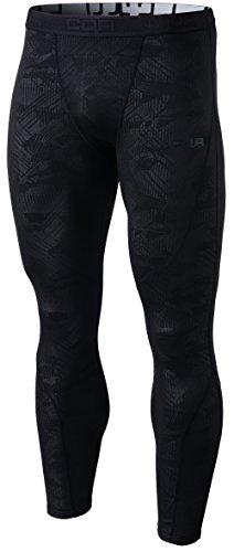Fleece Thermal Shorts - CQ-HUP303-BLK_Medium CQR Men's Thermal Wintergear Compression Baselayer Pants Leggings Tights HUP33