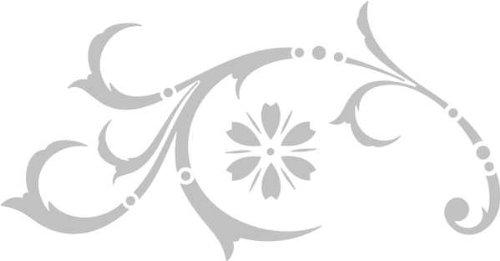 WANDTATTOO / Wandaufkleber - e43 wunderschönes Tribal / Blätter / Blumen / Pflanzen Ranke 160x83 cm - glasdekor