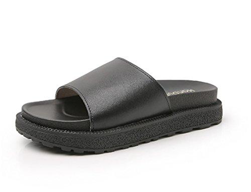 Öffnen Damen Maultiere Zehe Schieberegler Flauschige Fuzzy Schuhe Shoes Sandalen Bequem Eben HN Schlüpfen Slipper xH4PP6