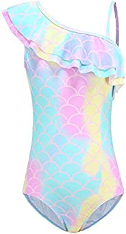 HowJoJo Girls Swimsuit Mermaid Bathing Suits Kids One Piece Swimwear