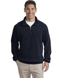Port Authority   Flatback Rib 1 4 Zip Pullover  F220   Navy L