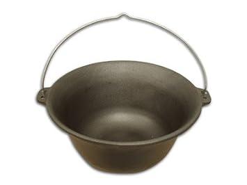 Kesselgulasch Gulaschtopf Gulaschkessel aus Gusseisen 8 Liter
