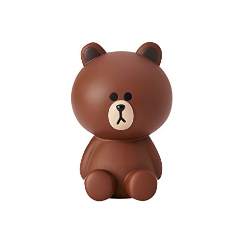 LINE FRIENDS Coin Bank - Brown Character Piggy Bank Money Counter, Brown