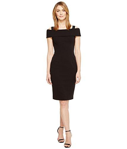 レーニン主義洪水紀元前[アドリアナパペル] Adrianna Papell レディース Crepe Off the Shoulder Cocktail Dress ドレス Black 14 [並行輸入品]