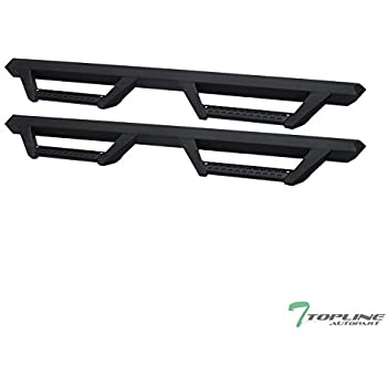 Topline Autopart Matte Black Hoop Drop Step Side Nerf Bars Rail Running Boards For 05-20 Toyota Tacoma Access Extended Cab