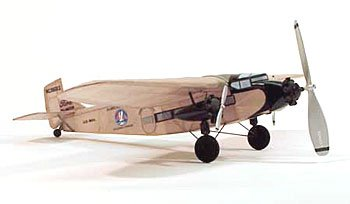 Free Balsa Airplane Plans - Ford Tri-Motor Rubber Powered Model Airplane by Dumas