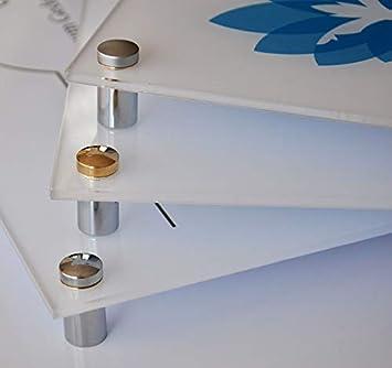 T/ürschild f/ür Au/ßen B/üroschild aus Acrylglas klar Praxisschild mit Druck Kindergartenschild Silber - matt, Querformat mit 4er Messing-Befestigungsset DIN A3 Firmenschild