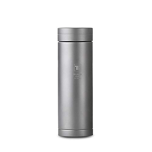 AUNLPB Titanium Vacuum Insulated Bottle, Thermos Cup, Anticorrosive 400ml Thermos with Fit for Beverage Coffee Milk for Business Gifts