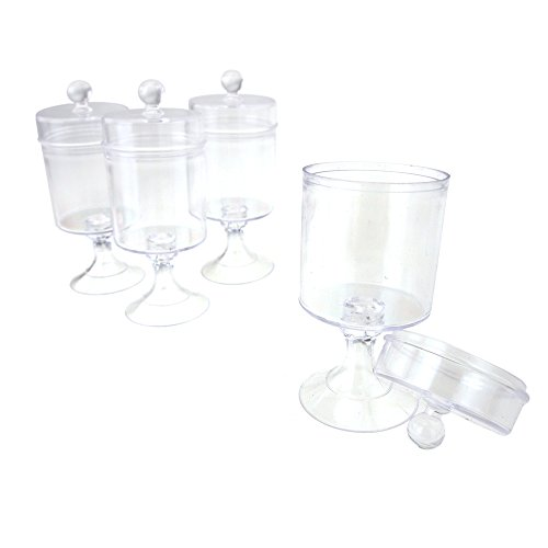 Homeford Clear Plastic Candy Jar Party Favor Container, 4-1/2-Inch x 1-3/4-Inch, 12-Count - Candy Container