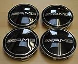 ml caps - 4 X AMG Mercedes Benz Center Hub Cap Hubcap E S Ml Sl CLK SLK 75mm Black
