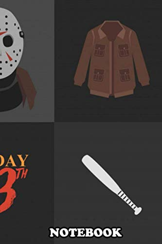 Notebook: Friday The 13th Jason Mask , Journal for Writing, College Ruled Size 6
