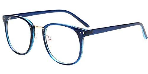 et Transparentes de Bleu Lentilles avec Femmes Lunettes Grande Taille Hommes pour soleil BOZEVON Cadre 7FqRwxC