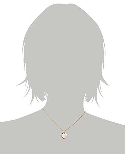 Crystelle - 500341014 - Collier Femme - Or Jaune / Blanc 375/1000 - Coeur - Cristaux Swarovski Blanc - Chaine 42 cm / 45 cm