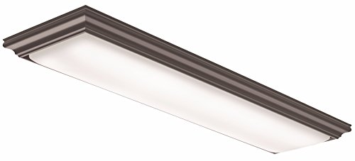 Lithonia Lighting Dark Brown 4-Ft LED Flush Mount, 4000K, 32W, 3,100 Lumens by Lithonia Lighting