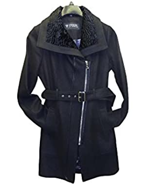 Guess Women's Black Coat Outerwear Large 22GMW707