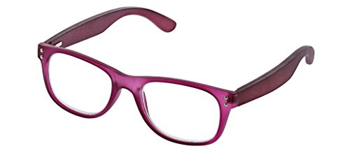 Peepers Unisex-Adult Day Tripper - Purple/Wood 2515150 Square Reading Glasses, Purple & Wood, 1.5