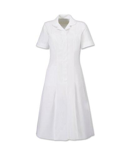 Alexandra Workwear HP370 Womens Zip Front Healthcare Dress White 6 U White/White 6 U