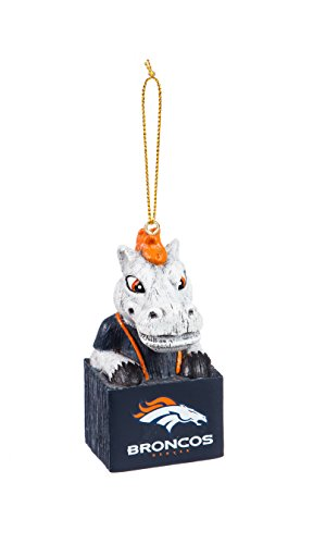 Team Sports America 3OT3809MAS Denver Broncos Mascot Ornament ()