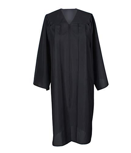 GradPlaza Unisex Adult Graduation Gown Economic Choir Robe Matte Gown Only Black -
