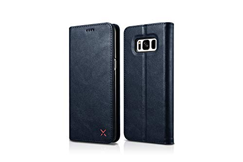 Techstudio Leather Flip Case Wallet Cover for Samsung Galaxy S8