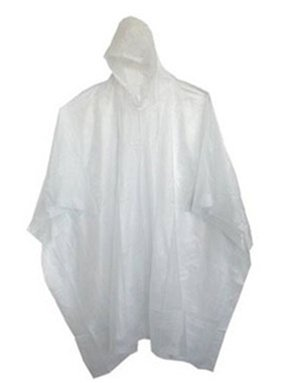 (48 Pack) Adult 10 Mil Reusable Rain Ponchos - Clear by Sara Glove