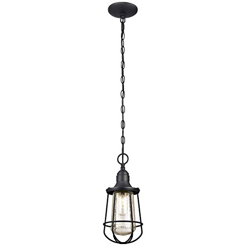 Vintage outdoor lighting amazon westinghouse 6203000 elias 1 light industrial outdoor pendant textured black mozeypictures Gallery