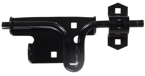 Gate Action (The Hillman Group 851225 Slide Action Gate Latch, Black Finish)