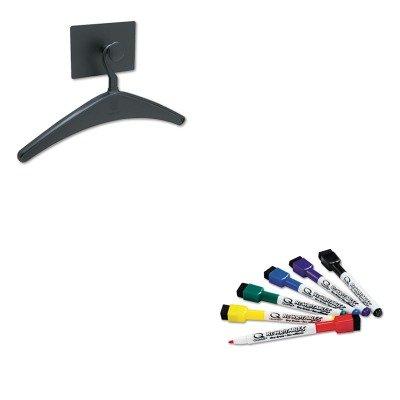 KITQRT2015MQRT51659312 - Value Kit - Quartet Magnetic Coat Hook w/Heavy-Duty Hanger (QRT2015M) and Quartet ReWritables Dry Erase Mini-Markers (QRT51659312)