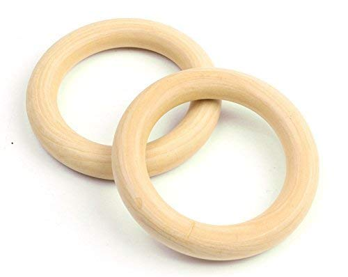 - Penta Angel 5PCS 3.7″ Natural Unfinished Wood Rings Circle Wood Pendant Connectors for DIY Projects Jewelry and Craft Making