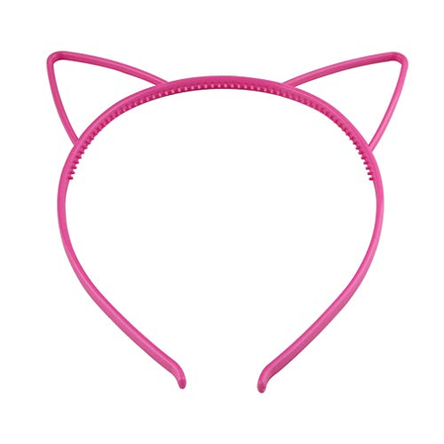 DARLING HER Candy Color Plastic Cat Ears Tiara Princess Headband Hair Band Teeth Children Hair Ornaments Headband