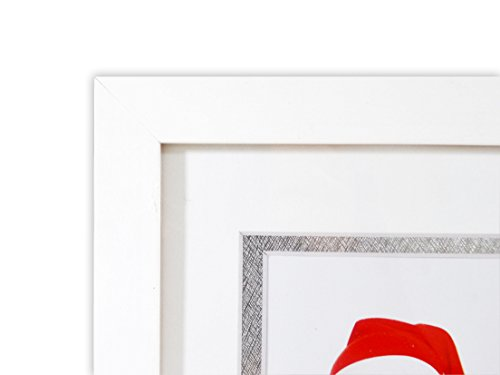 Golden State Art Baby Frames Collection, 8.5x16.3-inch Photo Wood Frame with White/Silver Double Mat for 3 4x6-inch Pictures, White by Golden State Art (Image #2)