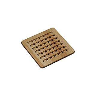 "Kesper 58741 Trivet 7.48"" x 7.48"" x 1.97"" of bamboo, Brown"