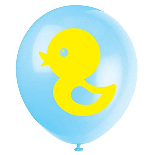 Blue Yellow Duck Baby Shower Or Birthday Party Latex Balloons, 16-Pack 12inch Boy or Girl Rubber Duck Themed Party Decorations]()