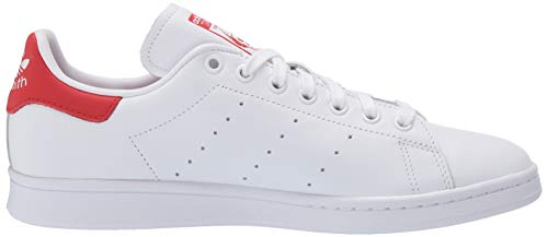 adidas Originals mens Stan Smith Sneaker, Footwear White/Footwear White/Lush Red, 8 US