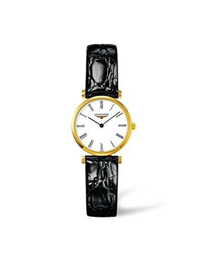 Longines-L42092112-Reloj-de-cuarzo-para-mujer-con-correa-de-cuero-color-negro