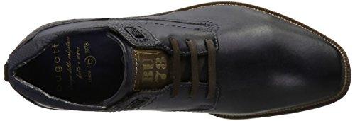 Bugatti 312311021100, Zapatos de Cordones Derby para Hombre Azul (Dark Blue)